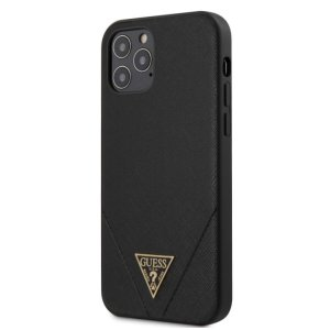 Husa Cover Guess Saffiano V Stitch pentru iPhone 12/12 Pro Black