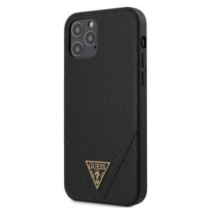 Husa Cover Guess Saffiano V Stitch pentru iPhone 12/12 Pro Black