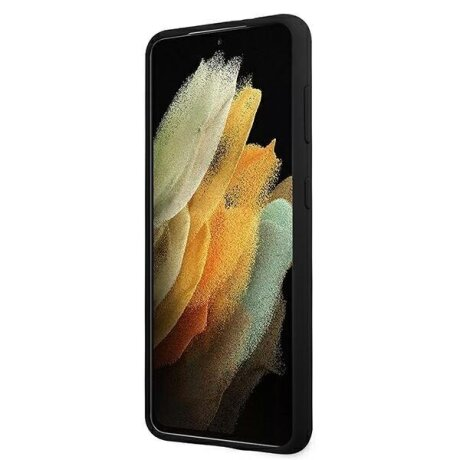 Husa Cover Guess Silicone Metal Logo pentru Samsung Galaxy S21 Plus Black