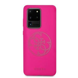 Husa Cover Guess Silicone Tone pentru Samsung Galaxy S20 Ultra Roz