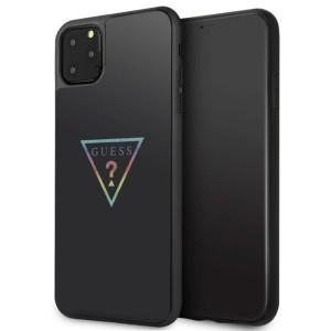 Husa Cover Guess Triangle Glitter pentru iPhone 11 Pro Max Negru