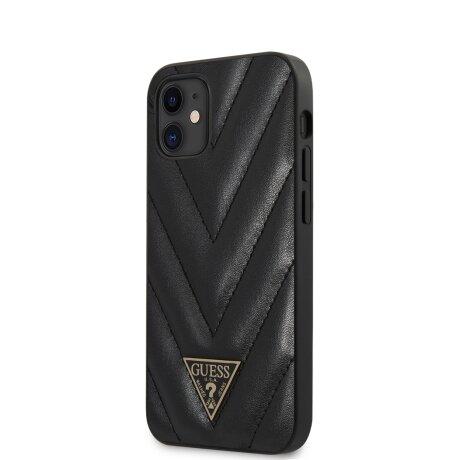 Husa Cover Guess V Quilted pentru iPhone 12 Mini Black