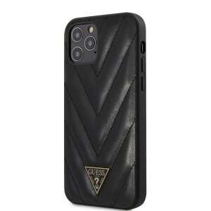Husa Cover Guess V Quilted pentru iPhone 12/12 Pro Black