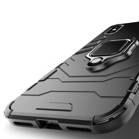 Husa Cover Hard Ring Armor Pentru iPhone 12 Pro Max Negru