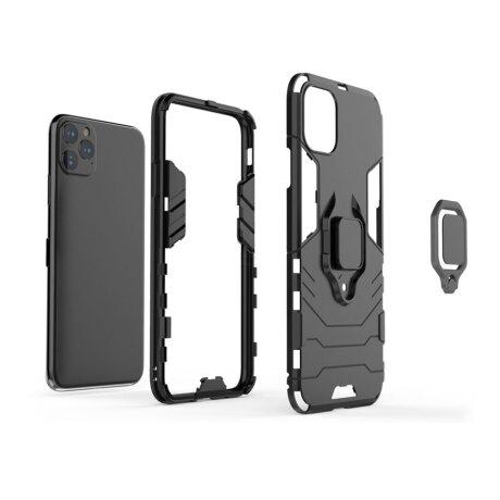 Husa Cover Hard Ring Armor Pentru iPhone 12/12 Pro Negru