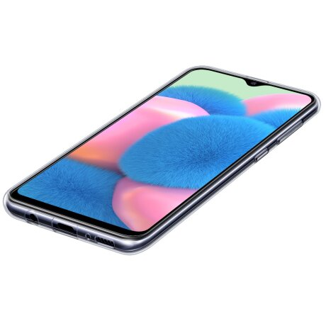 Husa Samsung Clear Cover pentru Samsung Galaxy A30s Transparent
