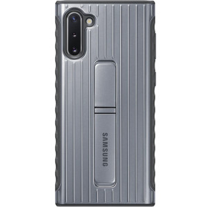 Husa Cover Hard Samsung Standing pentru Samsung Galaxy Note 10 Argintiu