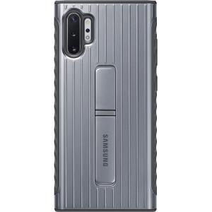 Husa Cover Hard Samsung Standing pentru Samsung Galaxy Note 10 Plus Argintiu