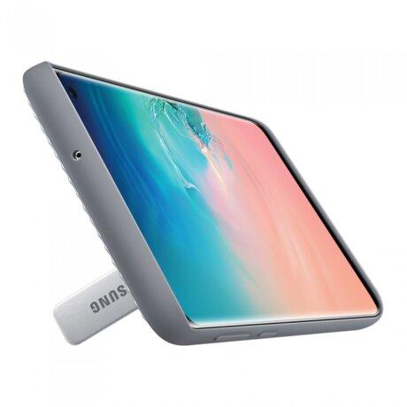 Husa Cover Hard Samsung Standing pentru Samsung Galaxy S10 Argintiu