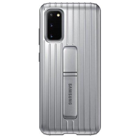 Husa Cover Hard Samsung Standing pentru Samsung Galaxy S20 Argintiu