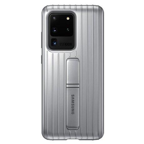 Husa Cover Hard Samsung Standing pentru Samsung Galaxy S20 Ultra Argintiu