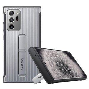 Husa Cover Hard Standing Samsung pentru Samsung Galaxy Note 20 Ultra  Silver
