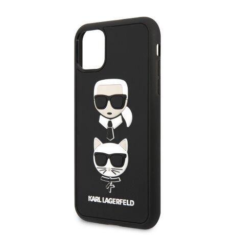 Husa Cover Karl Lagerfeld 3D Rubber Heads Kryt Pro pentru iPhone 11 Pro Black