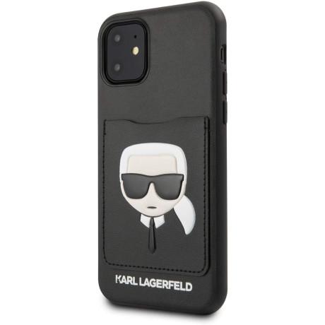 Husa Cover Karl Lagerfeld CardSlot pentru iPhone 11 Neagra
