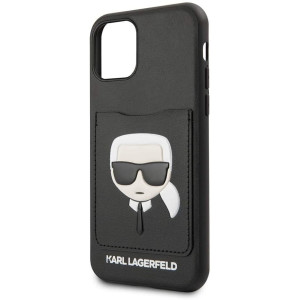 Husa Cover Karl Lagerfeld CardSlot pentru iPhone 11 Pro Max, Negru