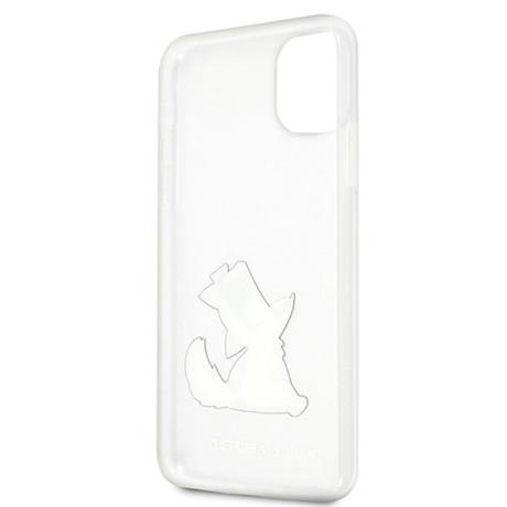 Husa Cover Karl Lagerfeld Choupette Fun pentru iPhone 11 Pro Max Clear