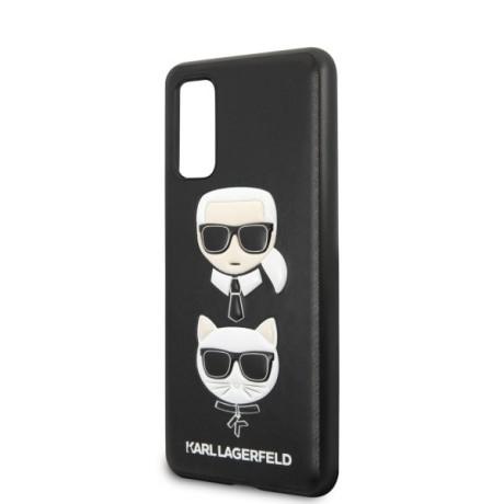 Husa Cover Karl Lagerfeld Choupette Head pentru Samsung Galaxy S20, Negru