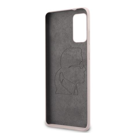 Husa Cover Karl Lagerfeld Full Body pentru Samsung Galaxy S20 Plus Roz