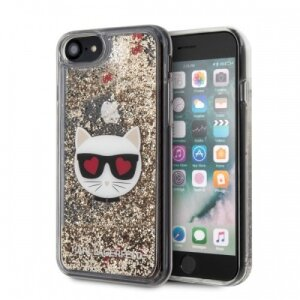 Husa Cover Karl Lagerfeld Glitter Choupette pentru iPhone 7/8/SE Gold