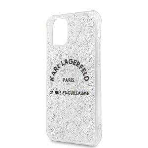 Husa Cover Karl Lagerfeld Glitter pentru iPhone 11 Pro Silver