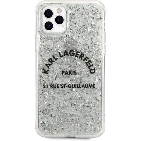 Husa Cover Karl Lagerfeld Glitter pentru iPhone 11 Pro Max Silver