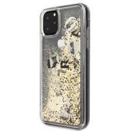 Husa Cover Karl Lagerfeld Glitter pentru Iphone 11 Pro Max  Negru Auriu