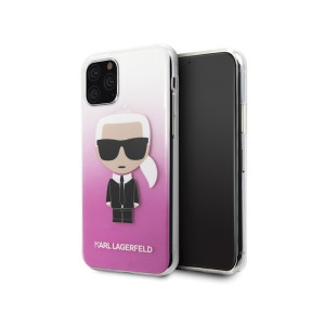 Husa Cover Karl Lagerfeld Gradient Ikonik pentru iPhone 11 Pro Roz