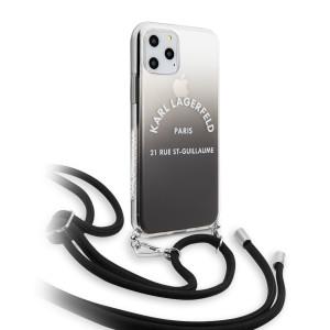 Husa Cover Karl Lagerfeld Gradient pentru iPhone 11 Pro Negru