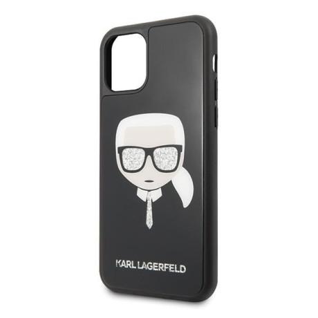 Husa Cover Karl Lagerfeld Iconic Glitter pentru iPhone 11 Negru