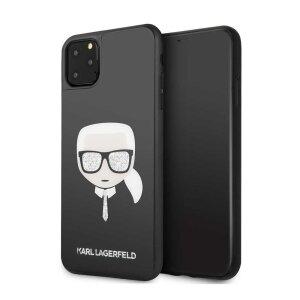 Husa Cover Karl Lagerfeld Iconic Glitter pentru iPhone 11 Pro Max Negru