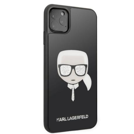 Husa Cover Karl Lagerfeld Iconic Glitter pentru iPhone 11 Pro Negru