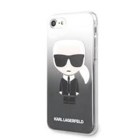 Husa Cover Karl Lagerfeld Iconic Glitter pentru iPhone 7/8/SE Black