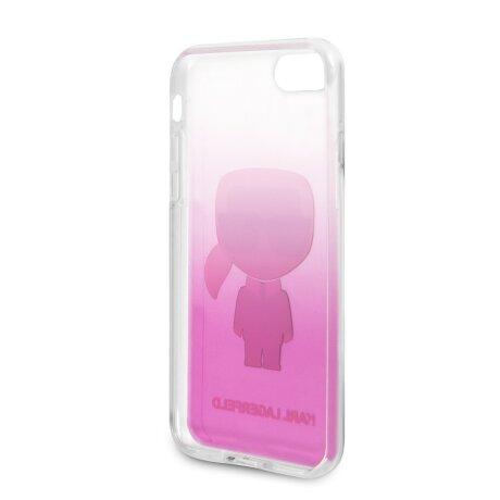 Husa Cover Karl Lagerfeld Iconic Glitter pentru iPhone 7/8/SE Pink