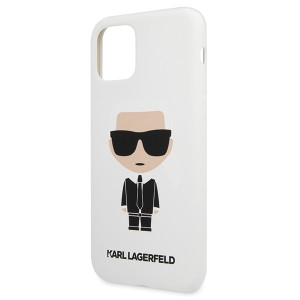 Husa Cover Karl Lagerfeld Iconic Silicone Body pentru iPhone 11 Pro Max Alb