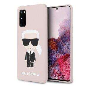 Husa Cover Karl Lagerfeld Iconic Silicone pentru Samsung Galaxy S20 Roz