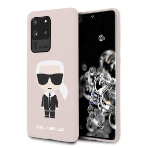 Husa Cover Karl Lagerfeld Iconic Silicone pentru Samsung Galaxy S20 Ultra Roz