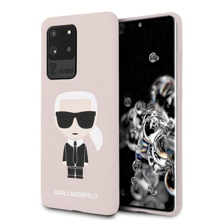 Husa Cover Karl Lagerfeld Iconic Silicone pentru Samsung Galaxy S20 Ultra Roz