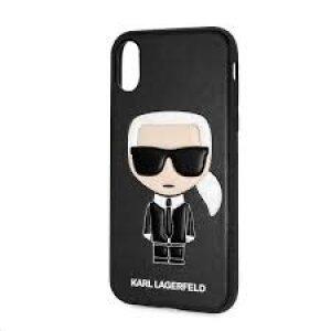 Husa Cover Karl Lagerfeld Iconic TPU pentru iPhone X/XS Black