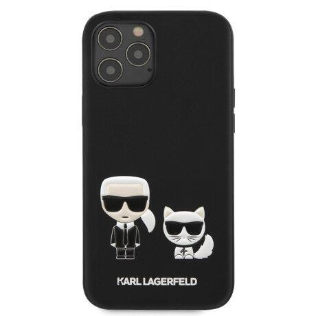 Husa Cover Karl Lagerfeld Karl &Choupette pentru iPhone 12 Mini Black