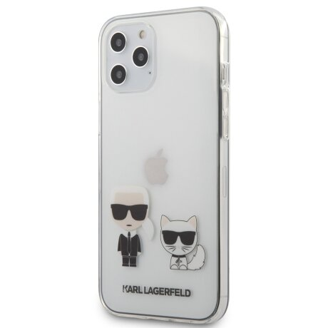 Husa Cover Karl Lagerfeld Karl &Choupette pentru iPhone 12 Pro Max Clear
