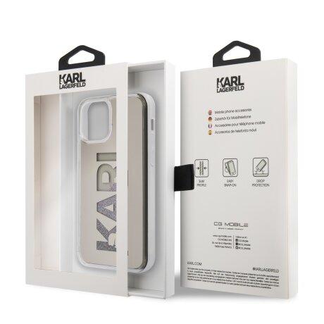 Husa Cover Karl Lagerfeld Liquid Glitter Multi Mirror pentru iPhone 12 Pro Max Silver