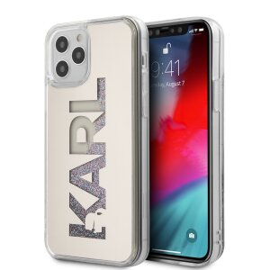 Husa Cover Karl Lagerfeld Liquid Glitter Multi Mirror pentru iPhone 12/12 Pro Silver