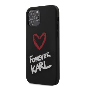 Husa Cover Karl Lagerfeld Silicone Forever pentru iPhone 12 Pro Max Black