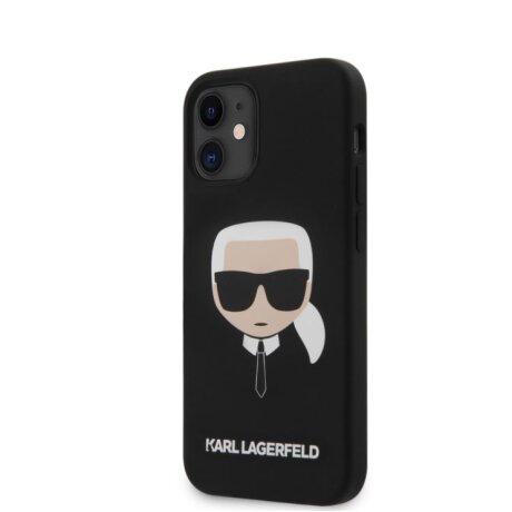 Husa Cover Karl Lagerfeld Silicone Head pentru iPhone 12 Mini Black