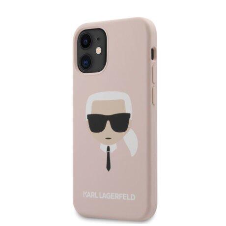 Husa Cover Karl Lagerfeld Silicone Head pentru iPhone 12 Mini Light Pink