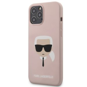 Husa Cover Karl Lagerfeld Silicone Head pentru iPhone 12 Pro Max Light Pink