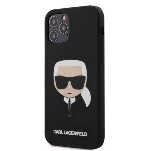 Husa Cover Karl Lagerfeld Silicone Head pentru iPhone 12/12 Pro Black