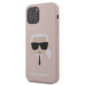 Husa Cover Karl Lagerfeld Silicone pentru iPhone 12/12 Pro Light Pink