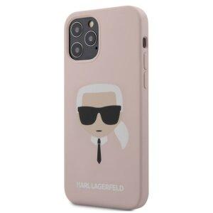 Husa Cover Karl Lagerfeld Silicone pentru iPhone 12/12 Pro Light Pink
