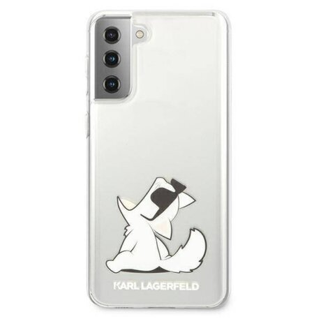 Husa Cover Karl Lagerfeld TPU Choupette Eat pentru Samsung Galaxy S21 Clear